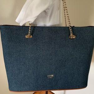 NWT, Guess Denim Bag